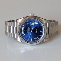 Rolex Day-Date 228239 Blue Whitegold Oanvänd