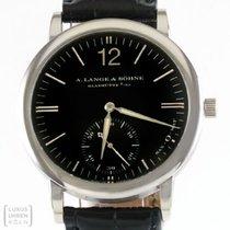A. Lange & Söhne Uhr Sax O Mat 750er Weissgold Ref. 301.027