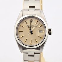 Rolex Oyster Perpetual Date Stainless Steel Silver Dial 6919