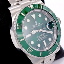 Rolex Submariner Green Hulk 116610lv Stainless Steel Ceramic...