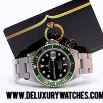 Rolex Submariner Date 16610LV Fat Four Y94 Never Polished