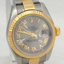 Rolex Ladies Rolex 18k Yellow Gold Steel Datejust Sunburst...