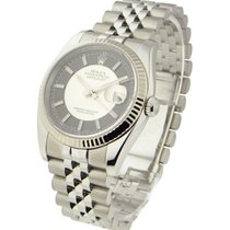 Rolex Used 116234_used_black_silver Mens Datejust 116234 with...