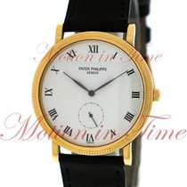 Patek Philippe Calatrava, White Lacquered Dial - Yellow Gold...