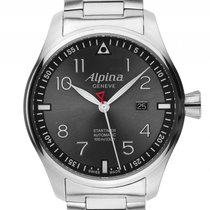 Alpina Startimer Pilot Sunstar Stahl Automatik Armband Stahl...