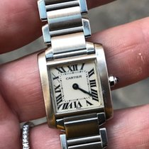 Cartier Tank francese automatico acciaio full set lady steel