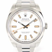 Rolex Milgauss white dial 116400 with Papers