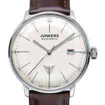Junkers Bauhaus 6050-5 Auto Watch Swiss Eta Movement Beige Dial