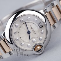 Cartier Ballon Bleu 28mm Steel/Rose Gold