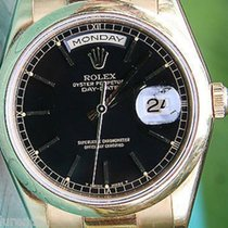 Rolex President Mens Womens Watch Gold Black Onyx 118208 Box...