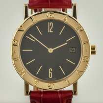 Bulgari Ladies, 18K Yellow Gold, Quartz, BB 33 GL, Red Leather...