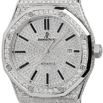 Audemars Piguet Royal Oak Full Diamond Set Custom Watch...