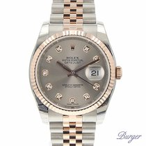 Rolex Datejust 36 Rolesor Everose Fluted / Jubilee / Silver /...