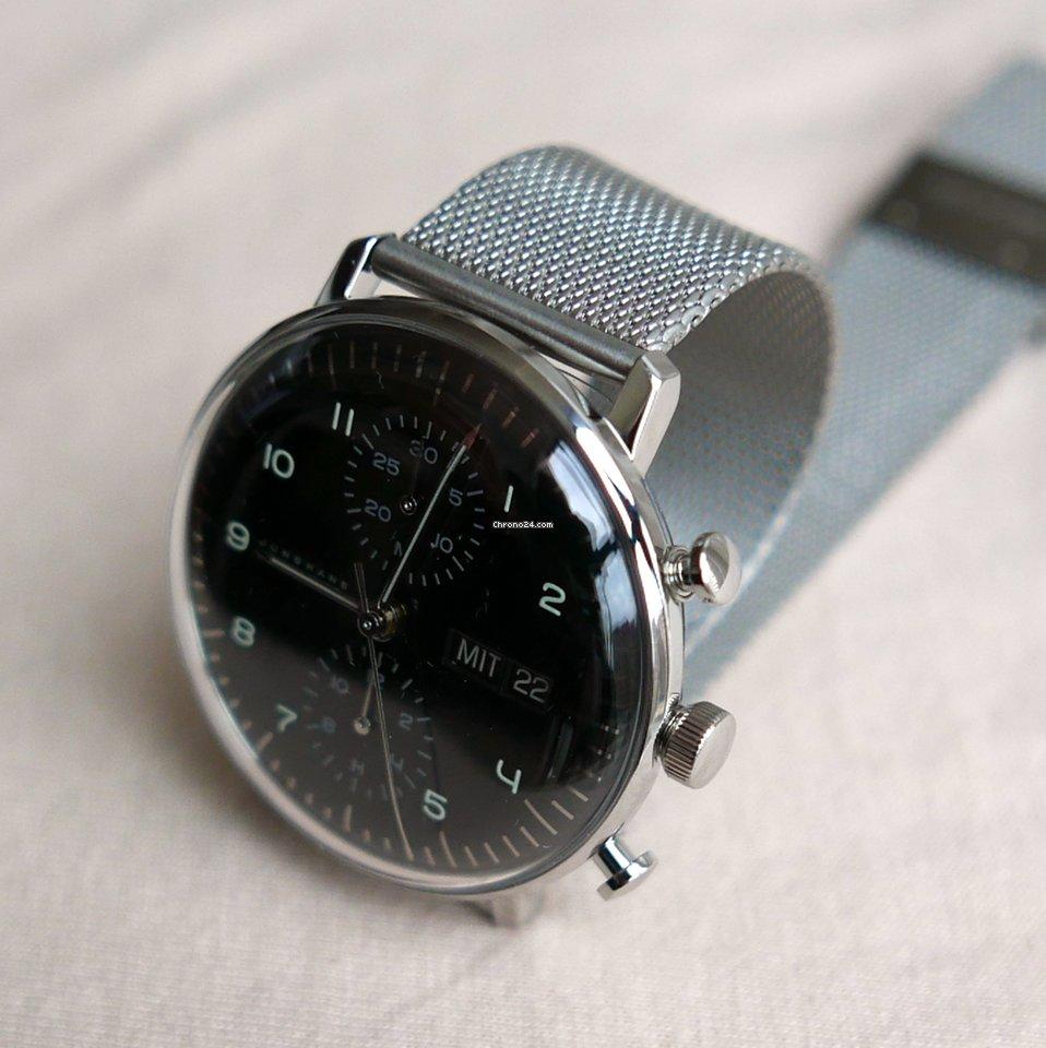 junghans max bill chronoscope f r kaufen von einem trusted seller auf chrono24. Black Bedroom Furniture Sets. Home Design Ideas