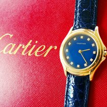Cartier COUGAR Gelb Gold 18K 750 Brillanten Luxus Herren...