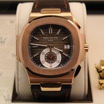 Patek Philippe 5980R-001 Nautilus Rose Gold (Leather Strap)