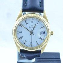 Mondia Herren Uhr 18k 750 Gold Quartz Neu Und Abgeklebt Rar 34mm