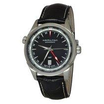 Hamilton JAZZMASTER GMT AUTO Black Dial & Leather Strap...