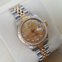 Rolex FULL SET perfect 69173 Date Just Gold orig. Diamond Dial