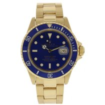 Rolex Oyster Perpetual Date 16618 Submariner 18k Yellow Gold