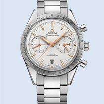 Omega Speedmaster 57 Chronograph 41,5 mm Stahl weiß -NEU-