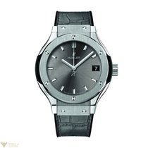 Hublot Classic Fusion Quartz Titanium Racing Grey Leather...