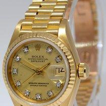 Rolex Ladies Datejust President 18k Yellow Gold Diamond Dial...