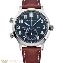 Patek Philippe Complications 42mm Calatrava Pilot Travel Time...