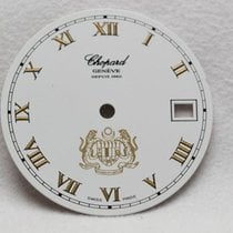 Chopard White & Gold Markers Crest Wristwatch Dial -...
