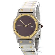 Cartier Unisex Santos de Cartier 18K Yellow Gold & SS Watch