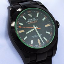 Rolex Milgauss 116400gv Oyster Perpetual Pvd Coated Green...