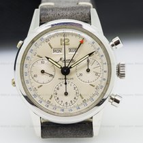 Minerva VF 712 VF 12 Vintage Calendar Chronograph SS / Silver...