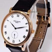 Patek Philippe Calatrava 18k Rose Gold Mens Watch Box/Papers...