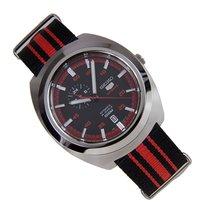 Seiko Automatici Red&Black Strap Steel Case Data SSA2/87K1