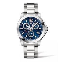 Longines Conquest Blue Dial Chronograph 41mm Men's Watch...