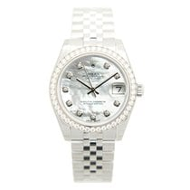 ロレックス (Rolex) Lady Datejust 18k White Gold Diamond Steel...