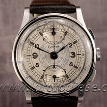 Clinton Vintage 1940`s Step Case Sector Dial Chronograph Cal....
