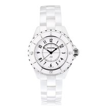 Chanel J12 33mm White Ceramic Ladies Watch H0968