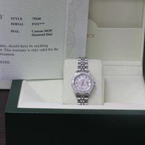 Rolex Ladies Datejust 79240 Stainless Steel Mop Diamond Dial...