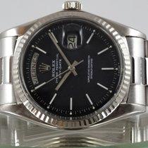 Rolex Daydate Or blanc Cadran Noir Laqué Bracelet comme neuf