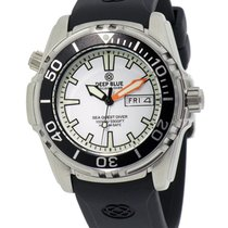 Deep Blue Sea Quest Diver 1000 Day/date Diving Watch White...
