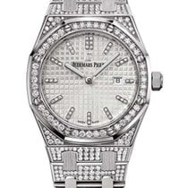 Audemars Piguet Royal Oak Quartz 18K White Gold & Diamonds...