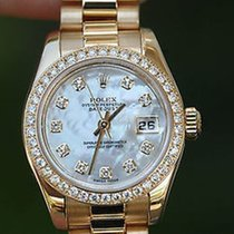 Rolex Ladies Crown Collection President Diamond Mother Of...