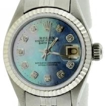 Rolex Datejust Ladies' 26mm Blue Mother Of Pearl Dial...