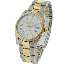 Rolex Used 15053_used_white_roman 2 - Toned Date 34mm 15203 -...