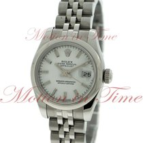 Rolex Datejust Ladies 26mm, White Dial, Smooth Bezel -...