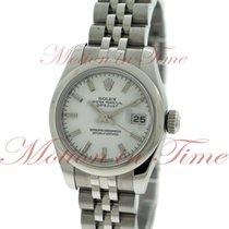 Rolex Datejust Ladies 26mm, White Dial, Smooth Bezel -...