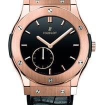 Hublot CLICK IMAGE TO ENLARGE Hublot King Gold Black Dial...
