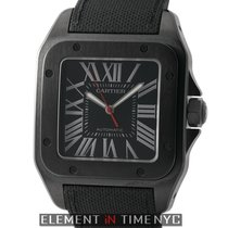 Cartier Santos Collection Santos 100 Large ADLC Coated Steel...