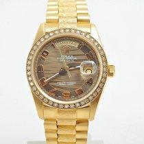 Rolex Day-Date 18038 Borke BOX & PAPIERE Full Set 1981...